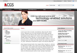 Computer Generated Solutions Microsoft Office SharePoint Server MOSS 2007 Intranet Concept