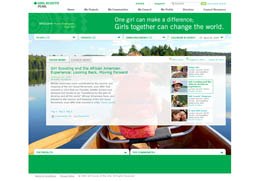 Girl Scouts of America SharePoint Design Moss 2007 - home