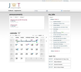 JWT Microsoft Office SharePoint Server 2007 dashboard
