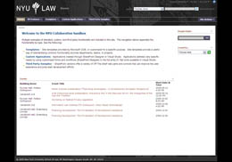 NYU Law SharePoint Design Moss 2007 - home